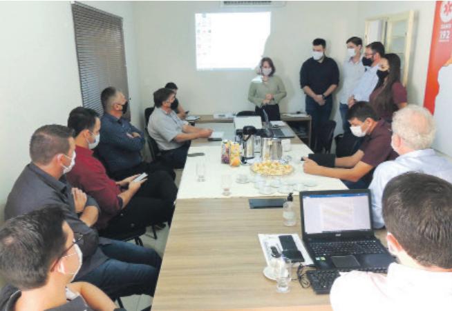 Prefeitos do Conselho Deliberativo juntamente com os Coordenadores do SAMU